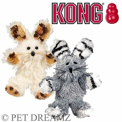 Kong Cat Kitten Softies Fuzzy Bunny Premium Catnip Toy Crinkly Soft Plush