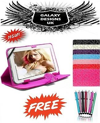 "Universal Bling Leather Stand Case Cover Pouch 9"" Inch 10"" Tab Android Tablet PC"