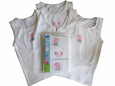 Peppa Pig Vests Pack of 3 Vests 12-18 months and 18-24 months