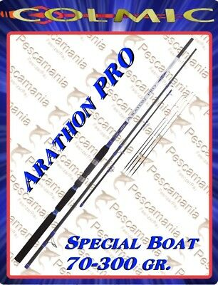 colmic carbon boat rod Araton Pro 70-300 gr. 3 sections 4 tips