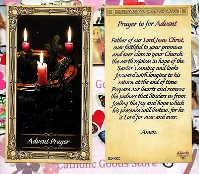 Advent Prayer - Paperstock Holy Card