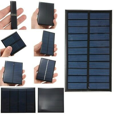DIY 1/3.5/4/5/6/9/12V 0.8/1/1.2/2.5W Solar Panel Module Cell Battery Charger HOT