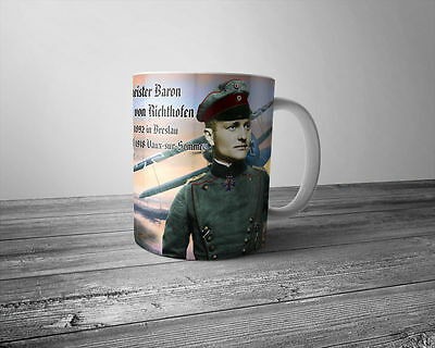WW1 German Mug Manfred von Richthofen Red Baron German Empire Fighter Pilot WWI