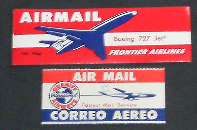 US Cinderella Stamps:  Air Line Air Mail Labels - Lot of 2, Mint NH
