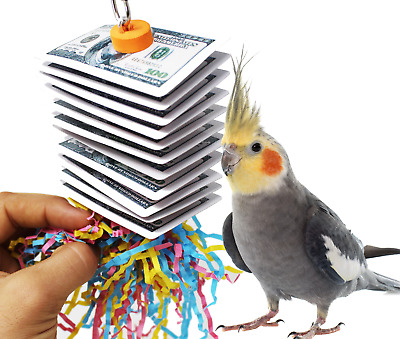 1472 SMALL POKER SHRED BIRD TOY parrot cage toys cages conure cockatiel budgie