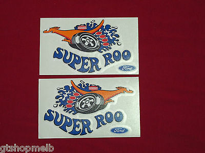 Ford Falcon Xw Gt Ho Superoo Super Roo Decal Kit Pair Large Super Roo Phase 2