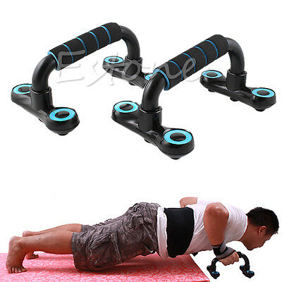 2xPush Up Stands Wooder Type Foam Wrap Pushup Exercise Home Gym Workout Fitness