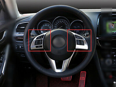 ABS Interior Steering wheel Cover Trim 2PCS For Mazda 3 M3 Axela 2014 2015 2016