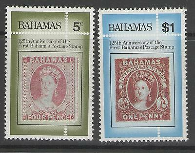 BAHAMAS SG673/4 1984 125th ANNIV OF FIRST BAHAMAS POSTAGE STAMPS MNH