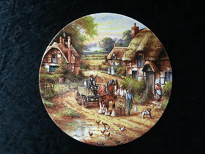 "Wedgwood Collectors Plates - Country Days Series - ""Early Morning Milk"""