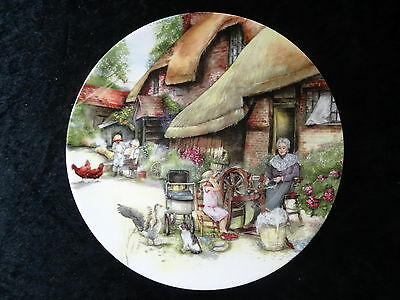"""Doulton Collectors Plate - Old Country Crafts - """"The Spinner"""""""