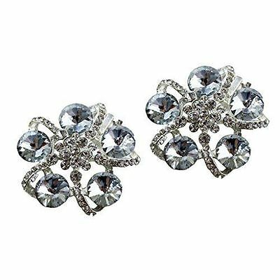 "Jewelled Shoe Clips, Shoe Jewels, Bridal Prom Shoe Accessories (1 Pair) ""Lizzy"""