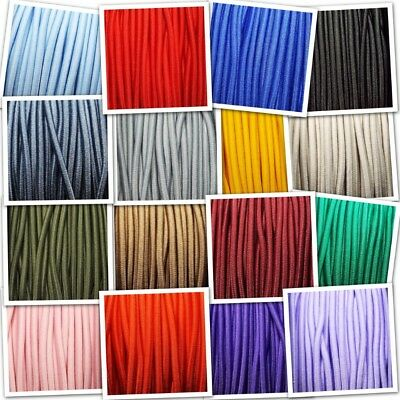 17 COLOUR 3mm Elastic Cord Lace Anorak Shock Bungee Round Stretch Buy 1 2 4 8m