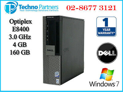 Dell Optiplex 960 SFF Dekstop Computer PC E8400 3.0G 4G 160G Win 7 Pro Warranty