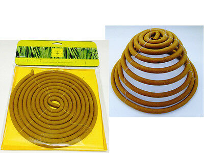 Outdoor Garden Hanging Spiral Incense Coil Citronella Burn 24 Hours Picnic BBQ