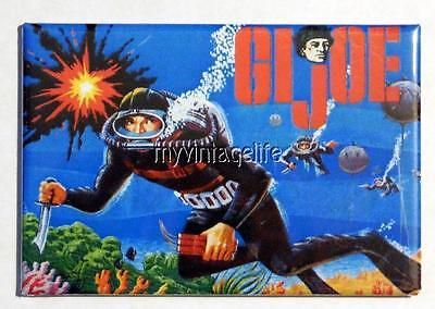 "Vintage GI JOE SCUBA DRIVER Lunchbox 2"" x 3"" Fridge MAGNET side B"