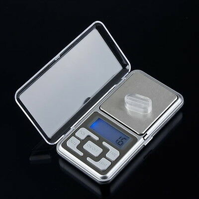 Stainless steel 500g 0.1g Digital Electronic LCD Jewelry Pocket Weight Scale EA