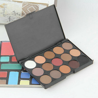 Professional 15 Colors Warm Nude Matte Shimmer Eyeshadow Palette Cosmetic EA