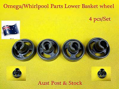 Omega,Whirlpool Dishwasher Spare Parts Lower Basket Wheel Replacement Grey-C309