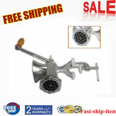 Manual Meat Grinder Mincer Pasta Maker Hand Operated Crank Tool for Kitchen