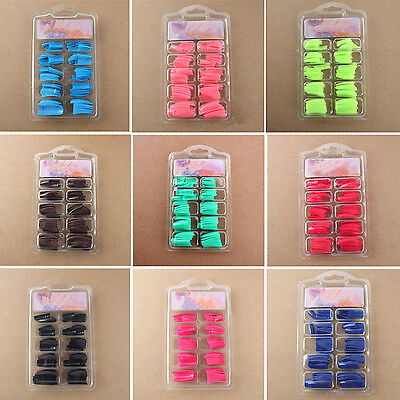 Yeah 100 PCS False Acrylic Gel French Nail Art Half Natural color French Tips