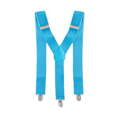 NAVY DOT DESIGN GENTS MENS 35mm WIDE ADJUSTABLE BRACES SUSPENDERS ELASTIC