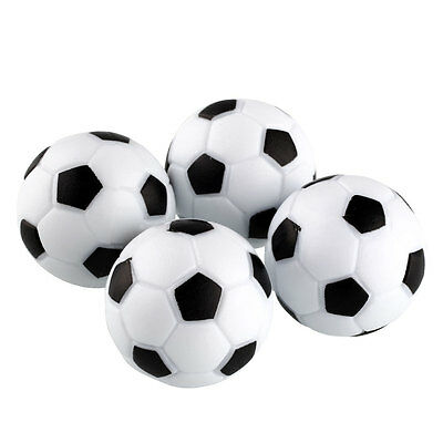 New Plastic 4pcs 32mm Soccer Table Foosball Ball Fussball Indoor Black+White