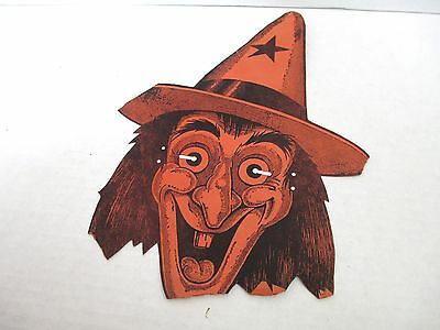 Vintage Halloween Witch Die Cut Advertising Paper Mask TIP TOP BREAD