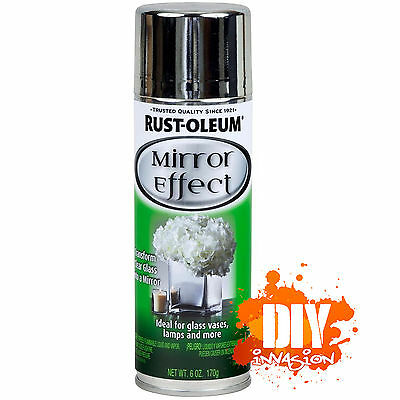 Rust-Oleum Mirror Finish Effect Spray Paint Ideal For Glass Vases Lamps Wedding