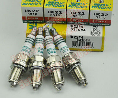 (4PCS) Denso IK22 5310 Iridium Power Spark Plug for Honda Nissan Ford Audi Volvo