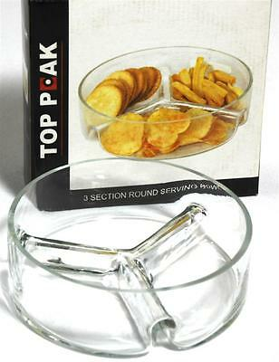 2 x Top Pack 3 Section Round Serving Dish