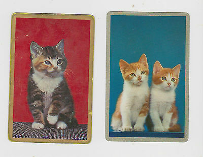 Kitten Appeal X 2 Only Single Vintage Playing/Swapcards ...Cute  ..