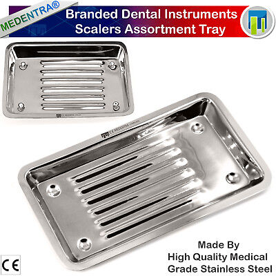 Dental Scaler Tray Stainless steel Dish Trays Instruments Autoclavable New