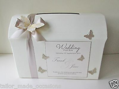 Personalised Butterfly Wedding Card Chest/ Post Box. Wishing Well. Any Colour!
