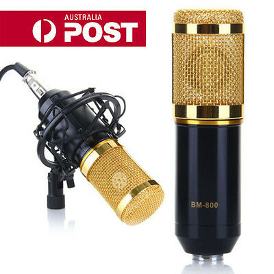 Professional Condenser Microphone Mic Sound Studio Recording Dynamic w/ Stand CC