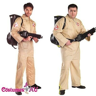Licensed Mens Ghostbusters Costume Adults GHOST BUSTERS 80s 1980s Fancy Dress
