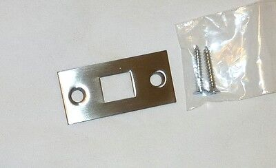 "Decorlux 2.25"" MBF-150 Mortise Bolt Door Strike Plate + Screws SATIN NICKEL NEW!"