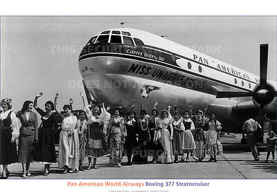 Pan Am Boeing Stratocruiser Miss Universe A3 Poster Print Picture Photo Image