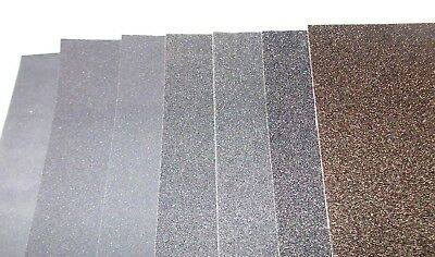 Wet Dry Emery Paper Sheet Smooth Medium Coarse Various Qty 120 - 2000 Grit