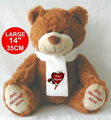 Personalised Teddy Bear Exclusive 34Cm Top To Toe Brown Mothers Day Mother's Day