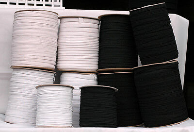 Flat Cord Elastic Different Width & Lengths 3mm , 7mm , 9mm ,1cm , 1/2inch Width