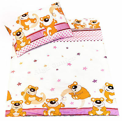 Cot bedding for girls 2pcs sets / pillowcases 100% Cotton  pink for baby toddler