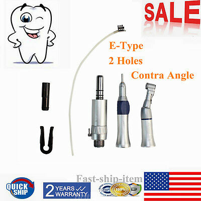 Dental Low Slow Speed Contra Angle Handpiece Kit E-type Air Mortor 4 Holes