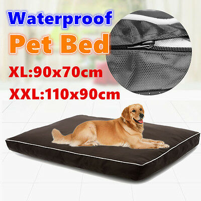 XXL Soft Waterproof Pet Bed Mattress Dog Cat Pad Mat Cushion Pillow Extra Large