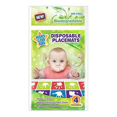 Mighty Clean Baby Disposable Placemats 24 Count (6 Packages of 4 Placemats) New