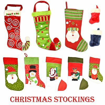 Traditional Christmas Santa Stocking Sack Sock Gifts bag Xmas Fillers Decoration