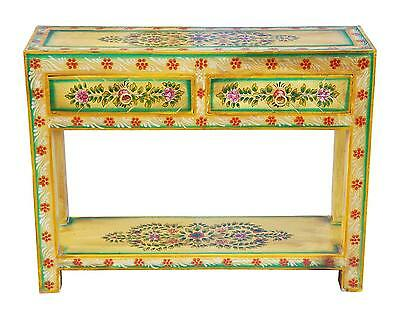 India Green Painted Small Sideboard Drawer Rustic of Luxury Park