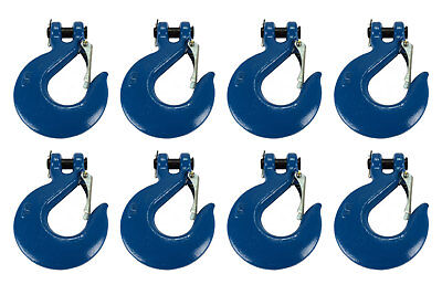 """8x 5/8"""" Chain Slip Safety Latch Hook Clevis Rigging Tow Winch Trailer Grade 70"""