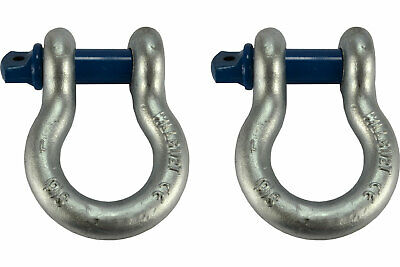 "2 Lot 1"" D Ring Bow Shackle Screw Pin Clevis Rigging Jeep Towing Recovery"