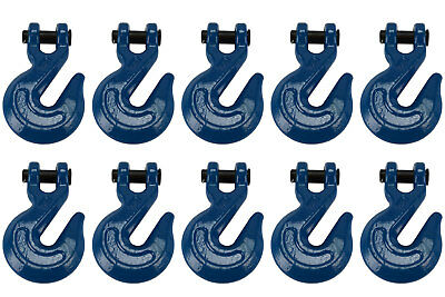 """10x 1/2"""" Chain Grab Hook Pin Clevis Rigging Tow Transport Truck Trailer Grade 70"""